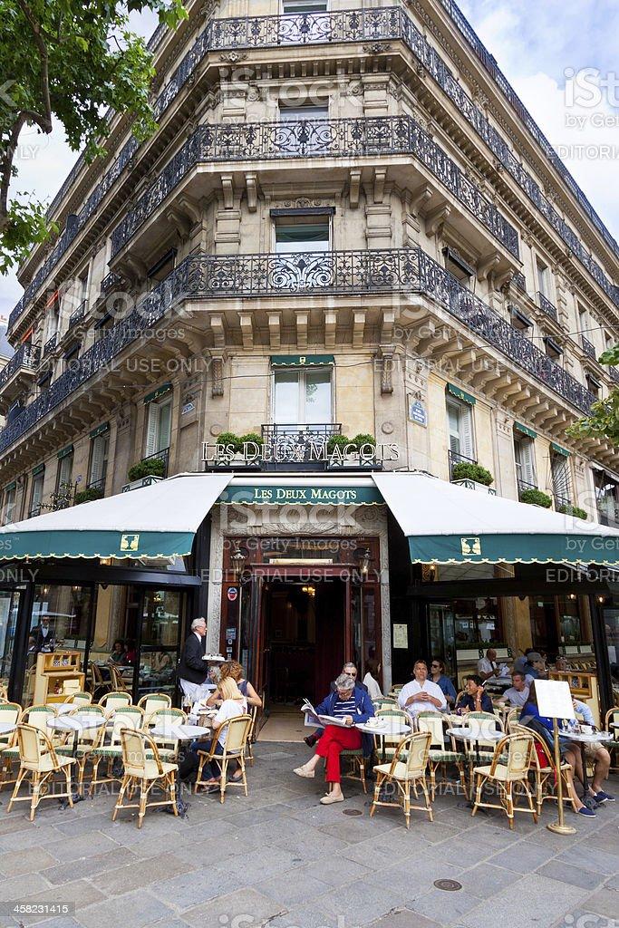 Cafe Les Deux Magots, Paris. royalty-free stock photo