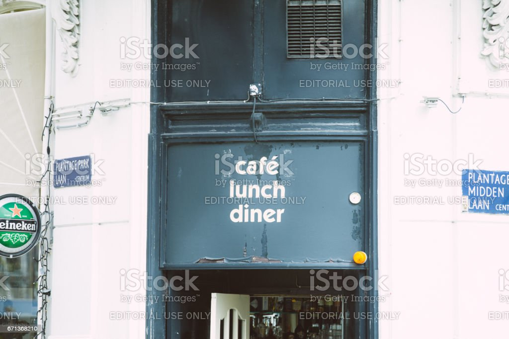 cafe lunch dinner sign stock photo