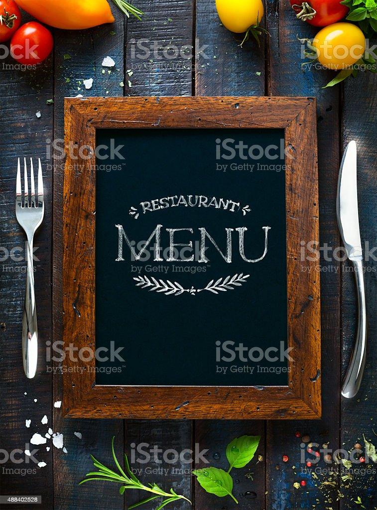 Cafe menu restaurant brochure. Food design template stock photo