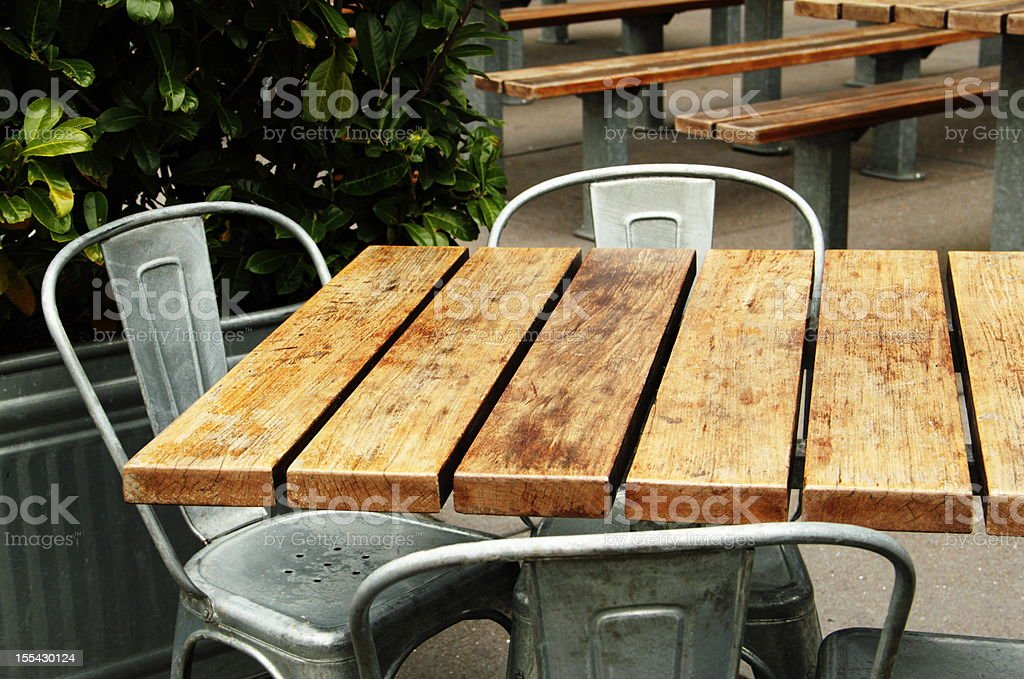 Cafe Outdoor Patio Dining stock photo