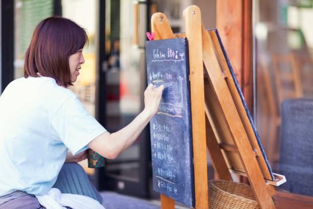 Café-Besitzer – Foto