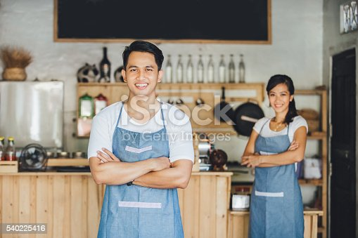 istock cafe owner standing with crossed arms 540225416
