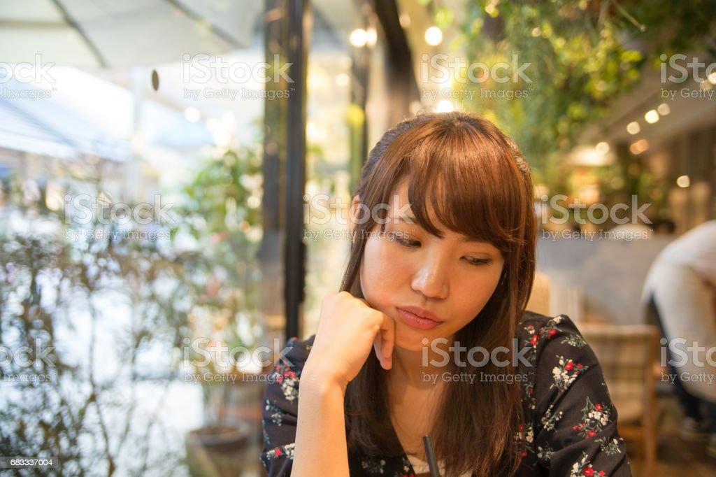 café 可愛い女性 photo libre de droits
