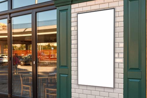 Cafe poster exterior