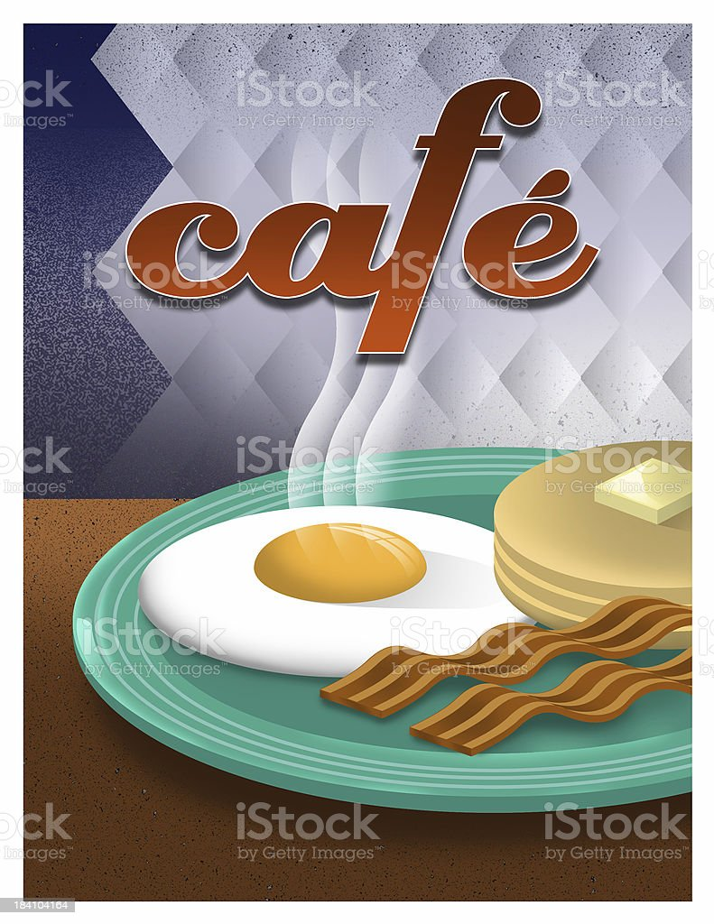 Cafe Poster stock photo