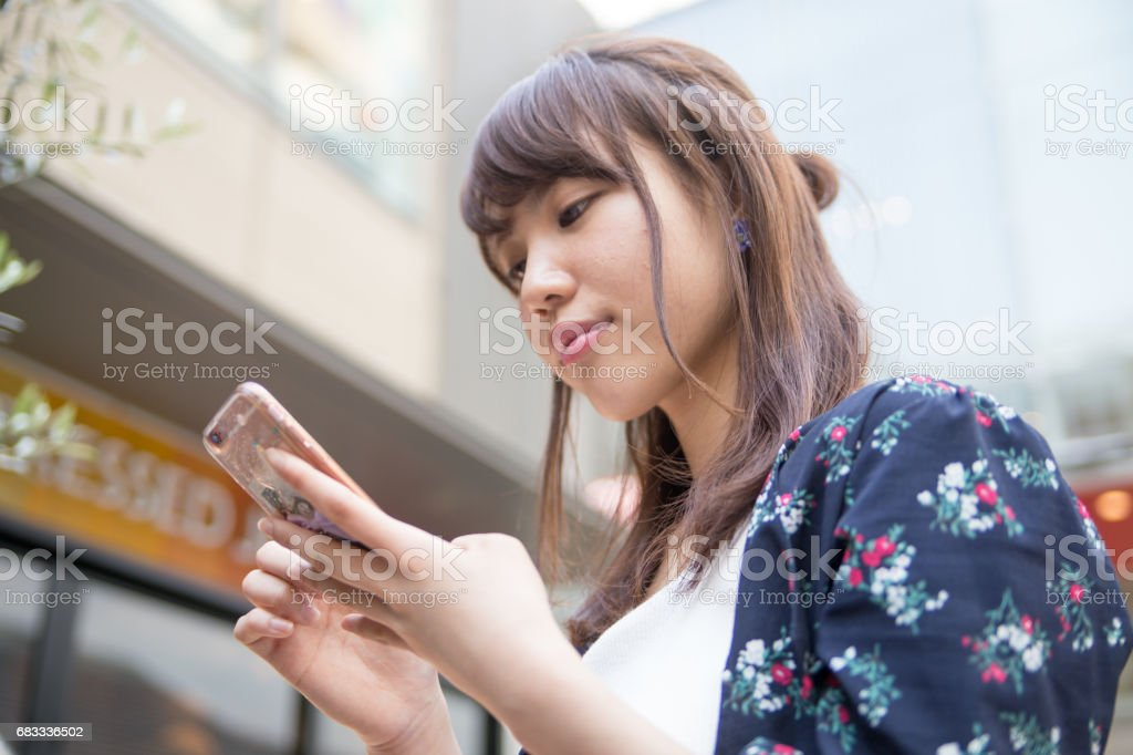 cafe 可愛い女性 royalty-free stock photo