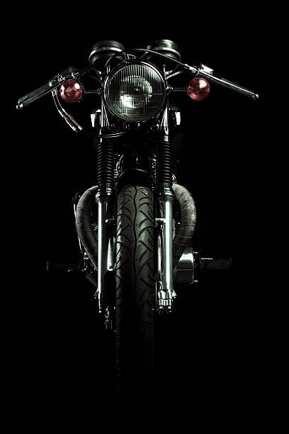 Cafe Racer bike stock photo
