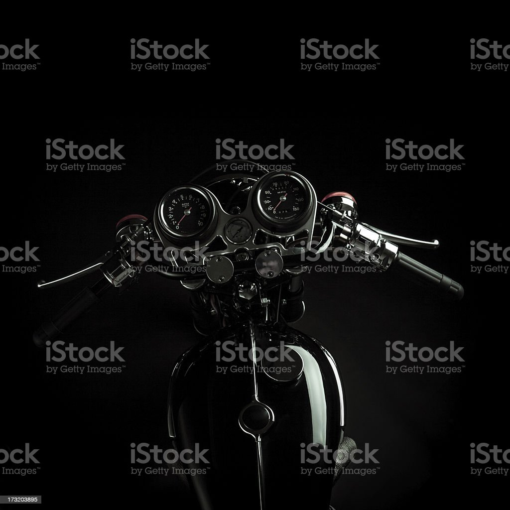 Cafe Racer controls stock photo