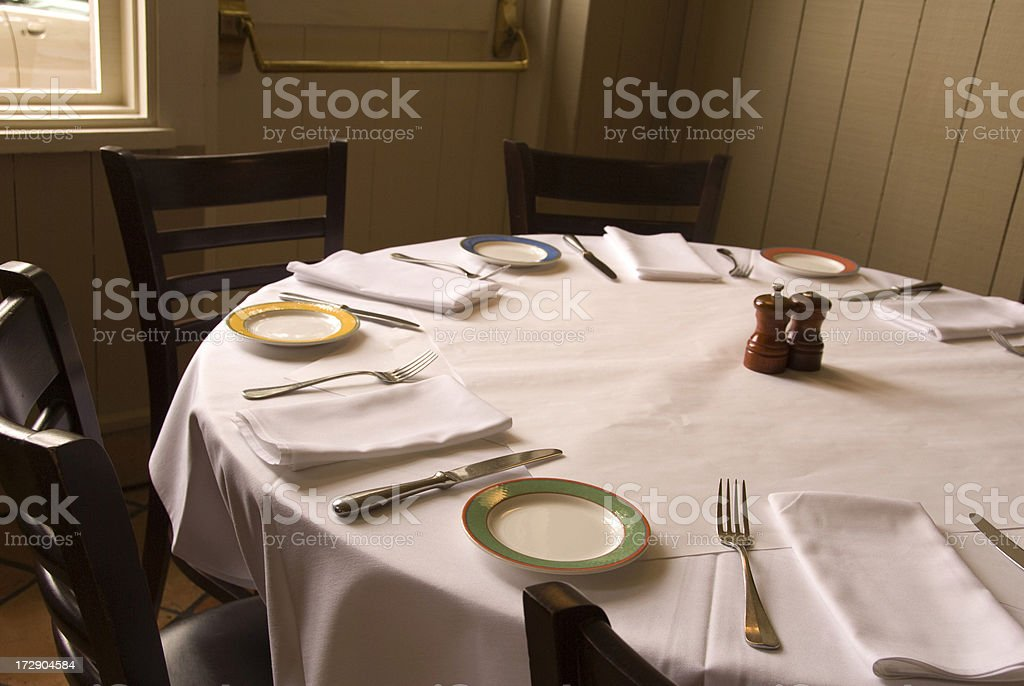Cafe Restaurant Dinner Table With Tablecloth Dining Place Settings Royalty-free Stock Photo & Dining Table Place Settings \u0026 Cafe Restaurant Dinner Table With ...