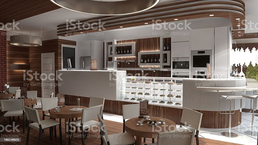 cafe Restaurant stock photo