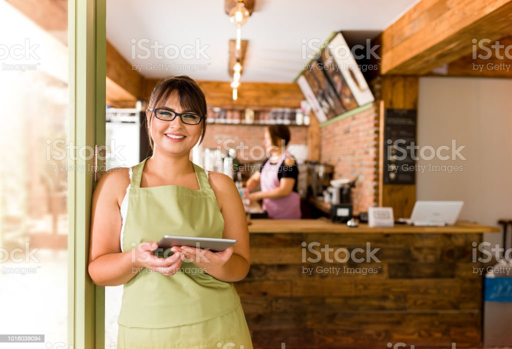 Cafe Shop Owner royalty-free stock photo