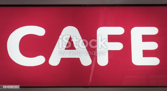 istock Cafe sign neon box. 494666350