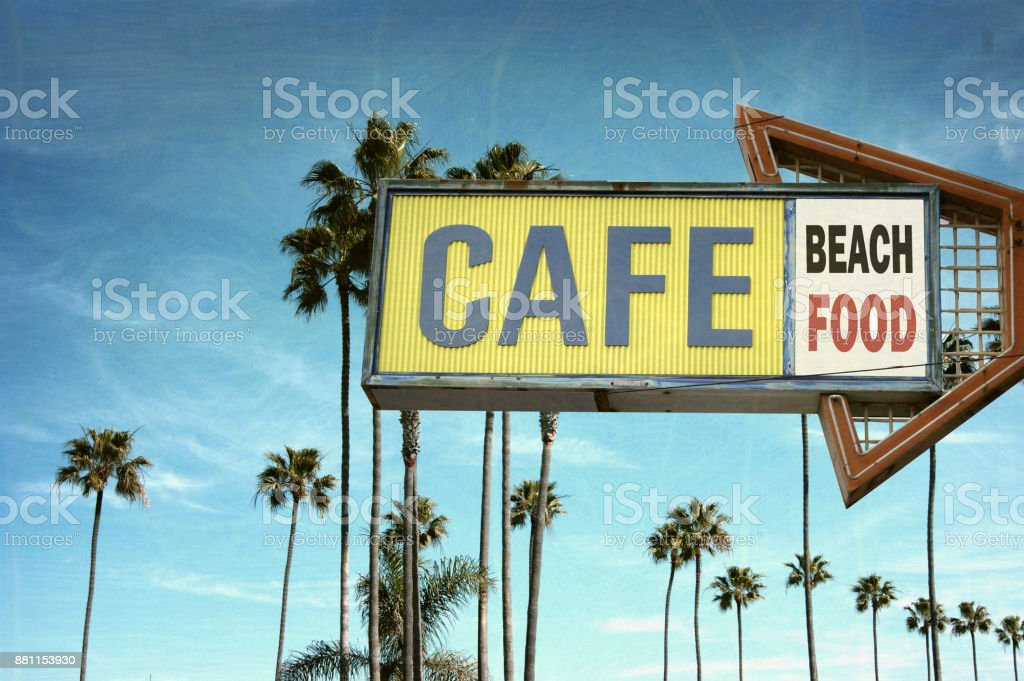 cafe sign stock photo