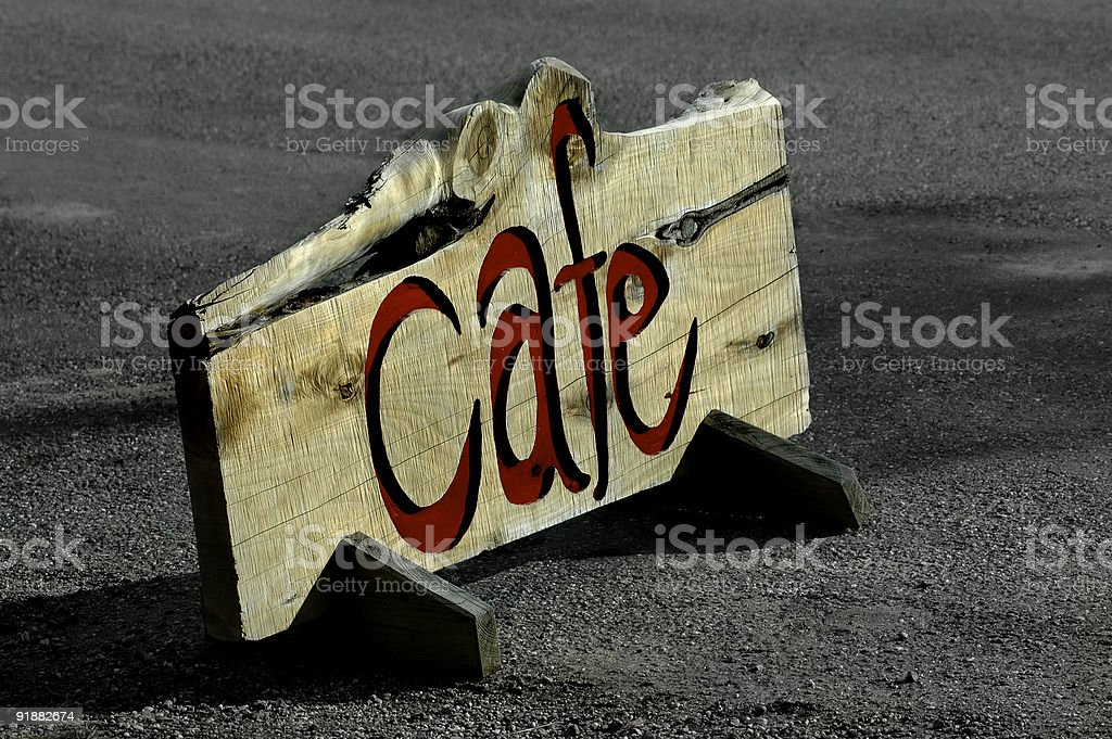 Cafe Sign royalty-free stock photo