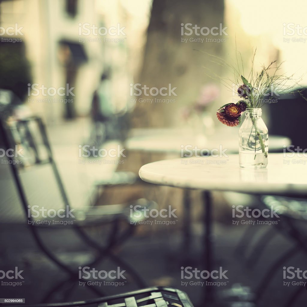 Cafe Tables stock photo