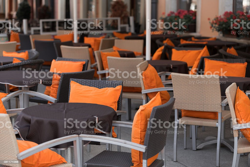 Cafe terrace stock photo