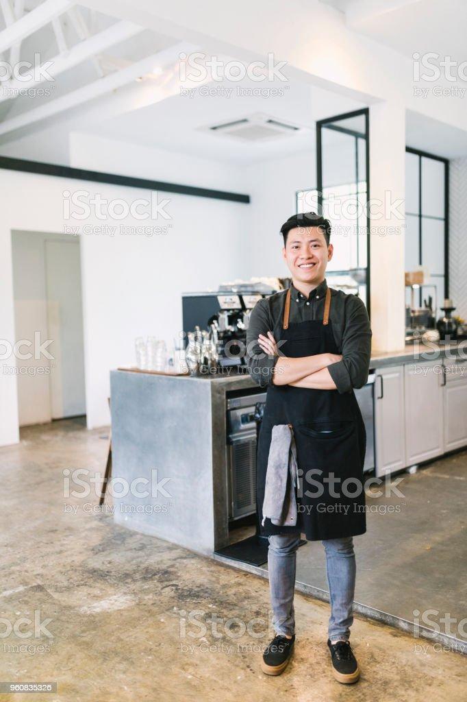 Cafe Worker Portrait stock photo