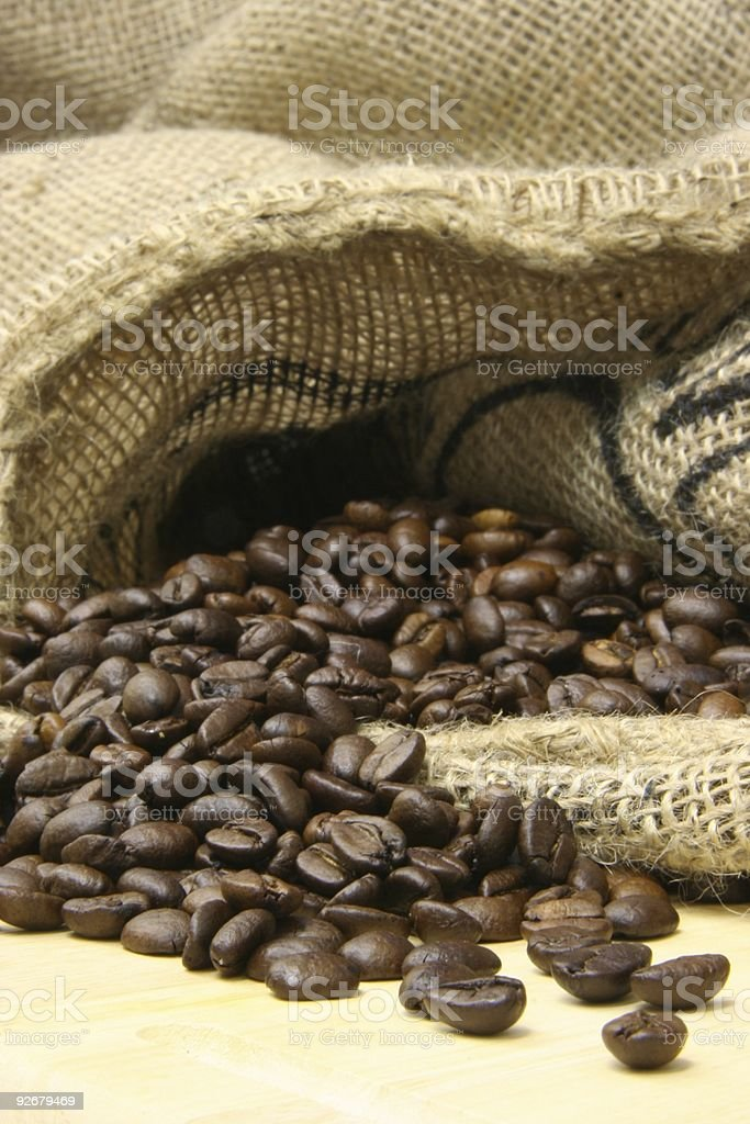 Cafebeans and space for Text royalty-free stock photo