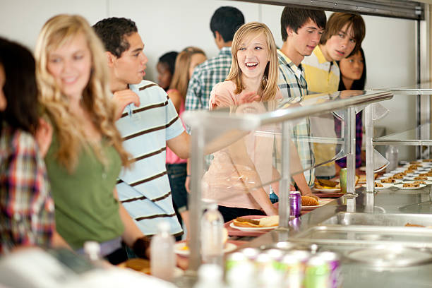 Cafeteria stock photo