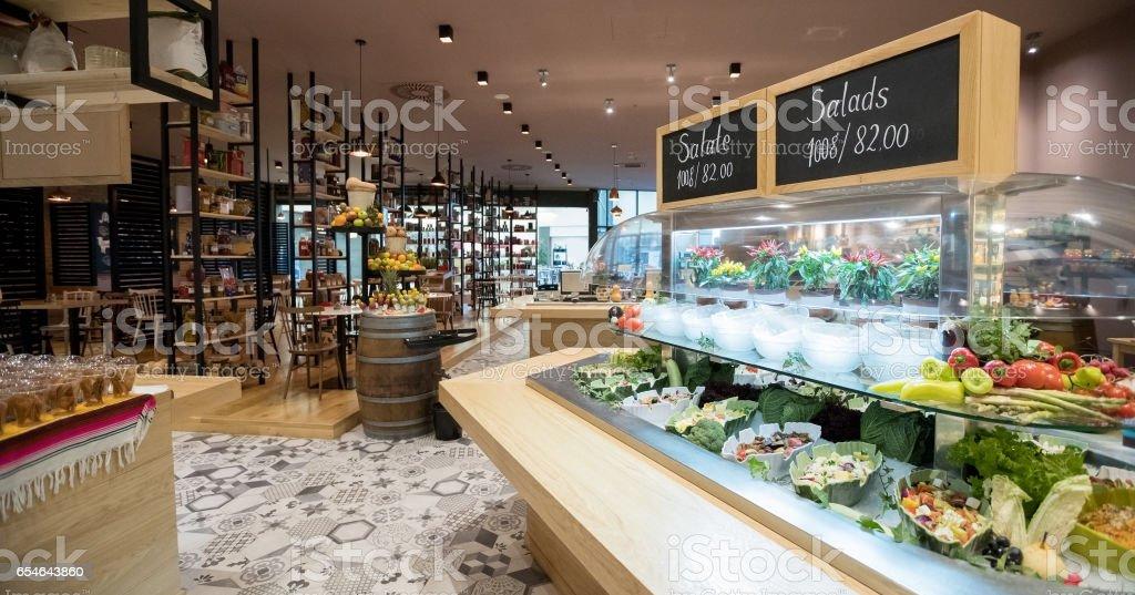 Cafeteria stock photo