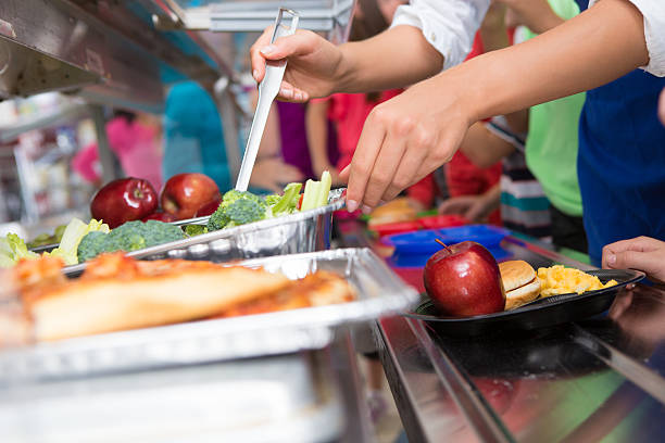 Cafeteria worker helping elementary students select food in lunch picture id175211849?b=1&k=6&m=175211849&s=612x612&w=0&h=rlovwsq7b1xvxmwxnwmmnu2qy3kklrdqqmzgb4qzjp4=