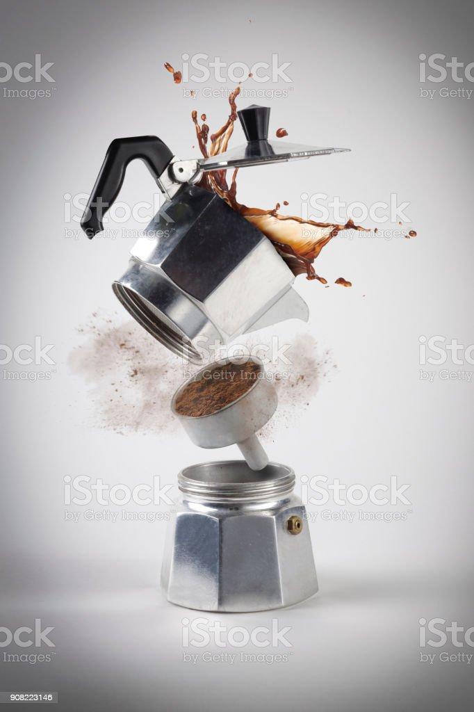 Explosión de Caffè Moka - foto de stock