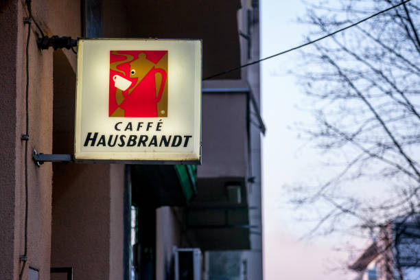 Caffe hausbrandt logo lit on a cafe bar of belgrade during the caffe picture id987522854?b=1&k=6&m=987522854&s=612x612&w=0&h=lmx u9z 1fl2eahwihzg5kc0xb5aenijuck 5tt7ca0=