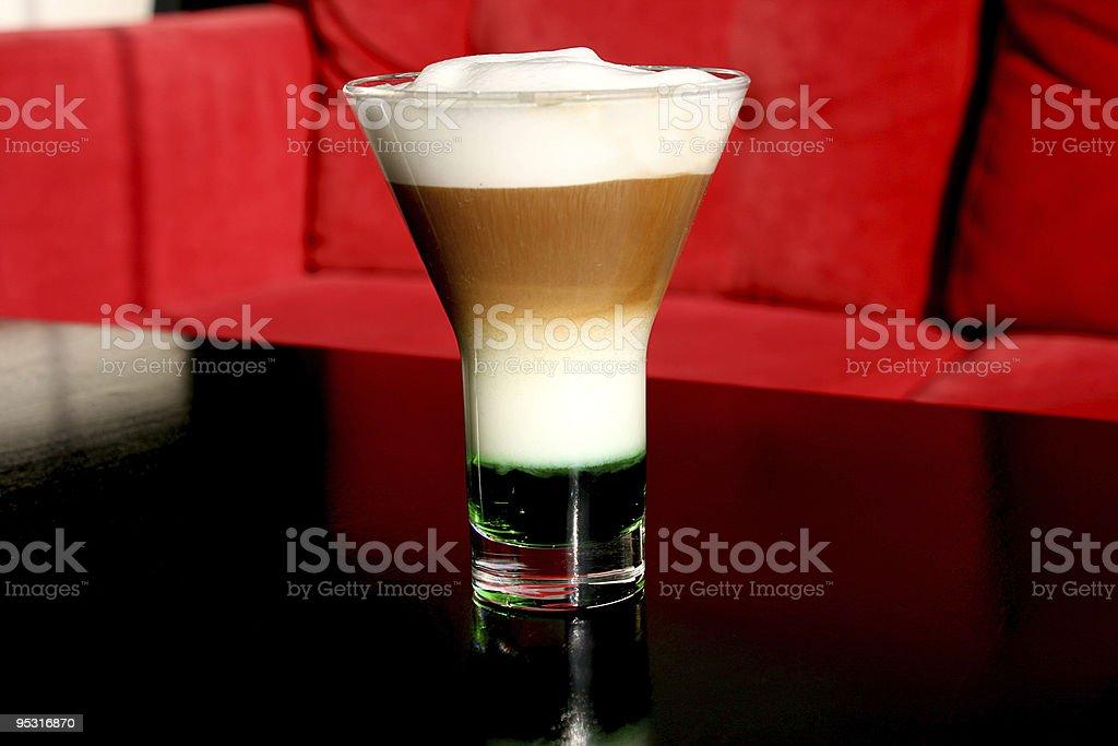 Caffe latte a la menthe royalty-free stock photo