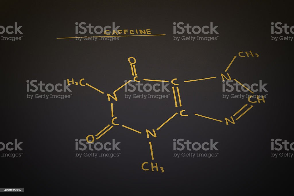 Caffeine molecule stock photo