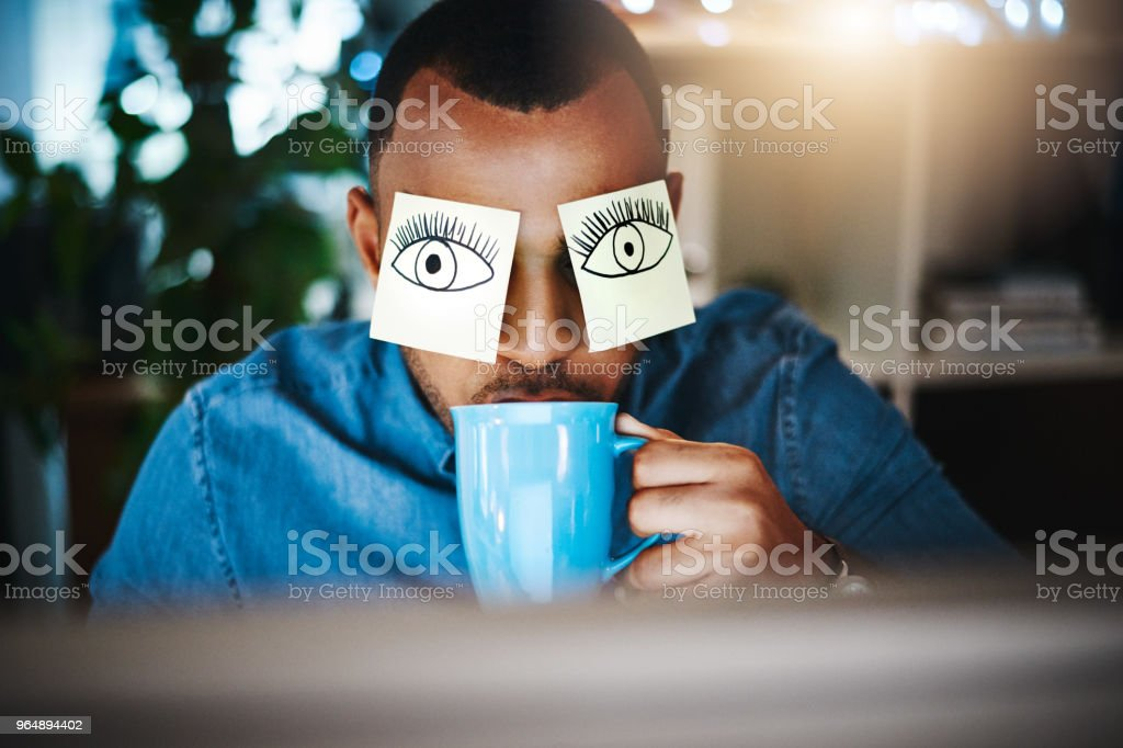 Caffeine, the supporting act of success royalty-free stock photo