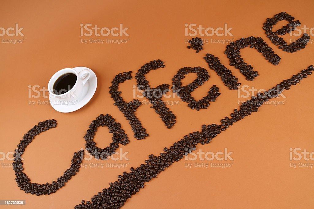 Caffeine Type stock photo