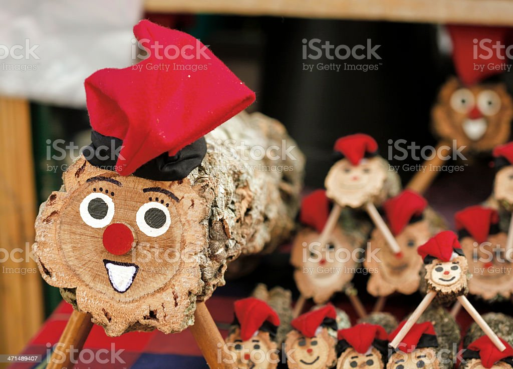 """Caga tió /Catalonian Xmas) Caga tió (""""shitting log"""") is a character in Catalan mythology relating to a Christmas tradition widespread in Catalonia. Art And Craft Stock Photo"""