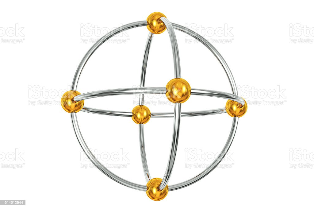Cage of Rings and beads stock photo