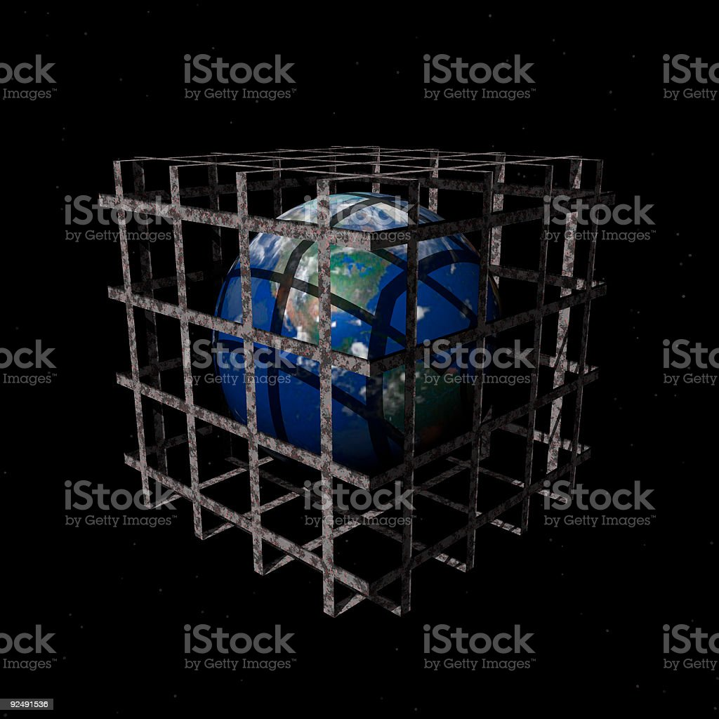Caged Earth royalty-free stock photo