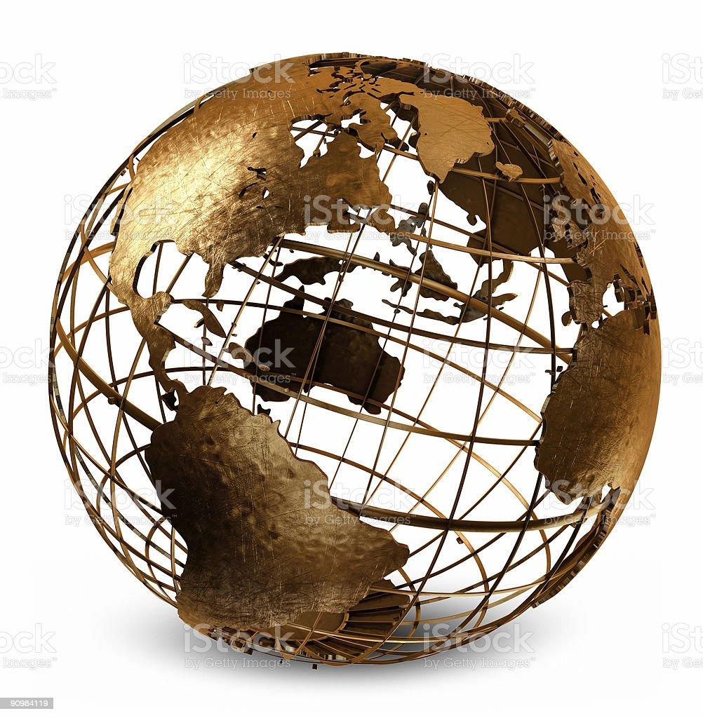 Caged Globe stock photo