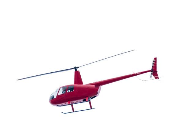 Eingesperrte roten Hubschrauber auf weißem Hintergrund – Foto