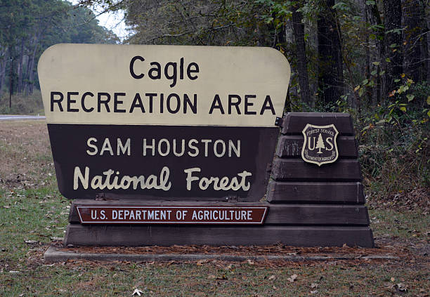 Cagle Recreation Area Sign stock photo