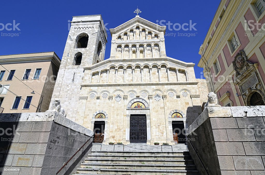 Cagliari Cathedral stock photo