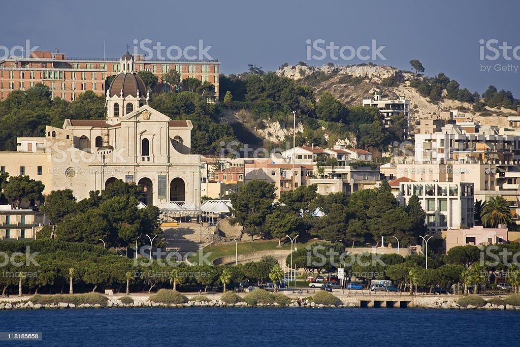 Cagliari, in Sardinia stock photo