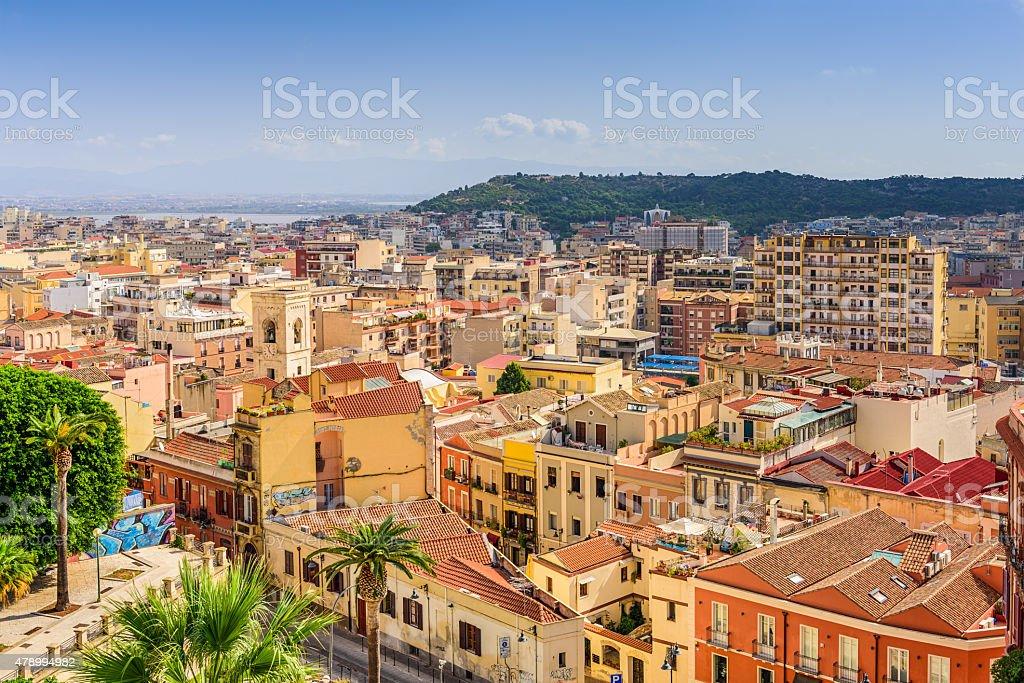 Cagliari Italy Cityscape stock photo