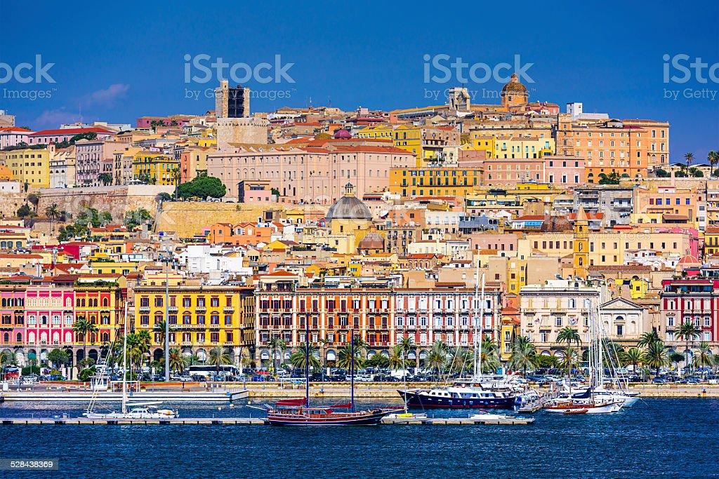 Cagliari, Italy Cityscape stock photo