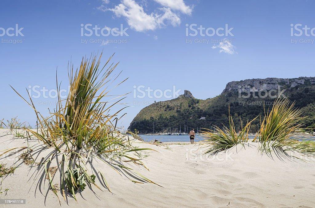 Cagliari, Poetto beach stock photo