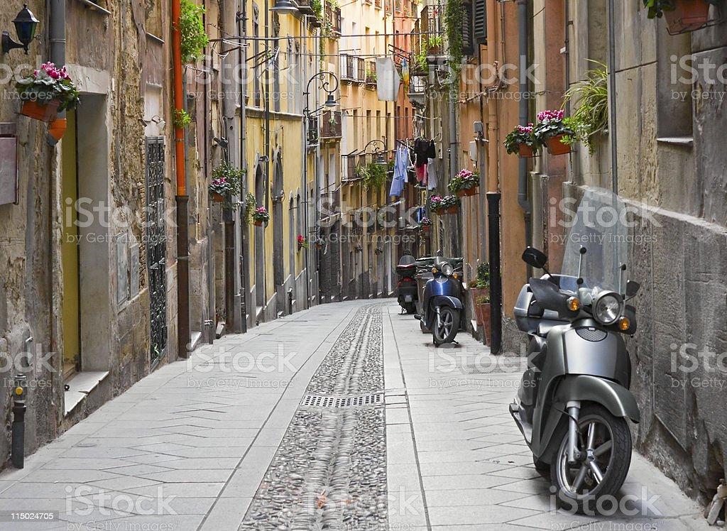 Cagliari street stock photo