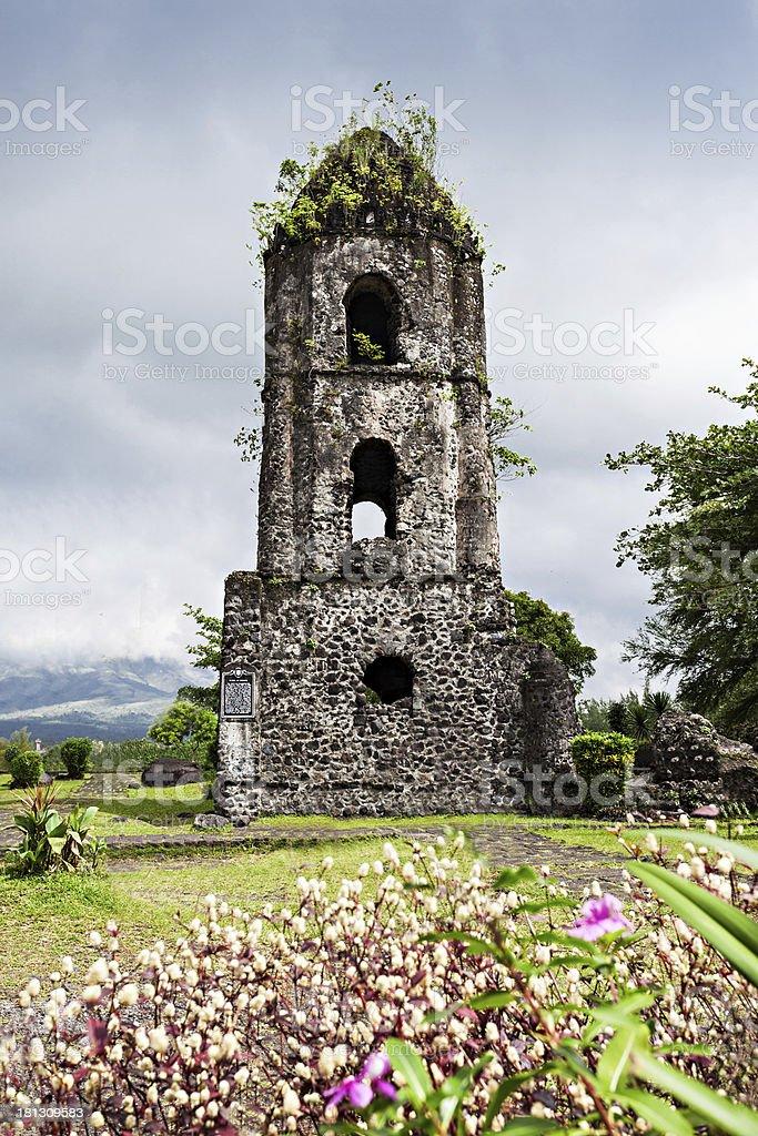 Cagsawa ruins stock photo