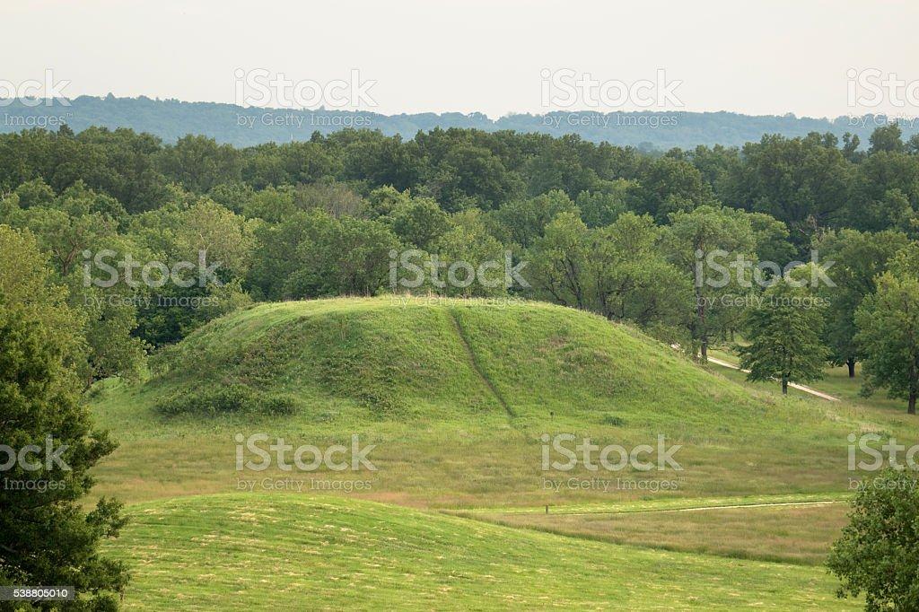 Cahokia Mounds State Historic Site Illinois Twin Mound Stock