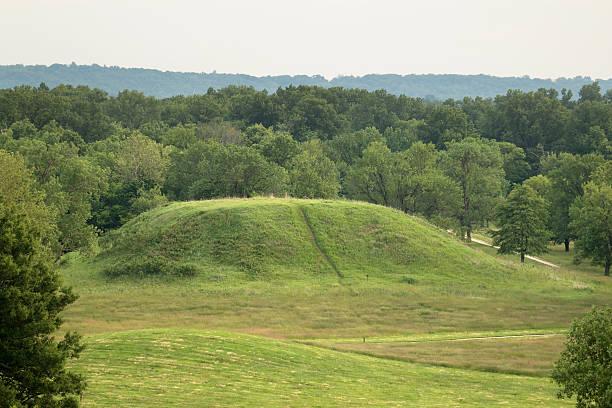 Cahokia Mounds State Historic Site Illinois Twin Mound stock photo