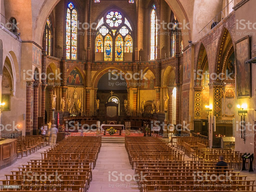 Cahors Cathedral stock photo