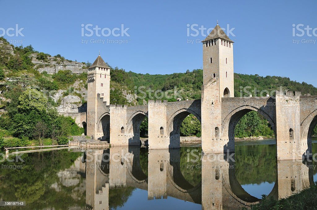 Cahors - Pont Valentré stock photo