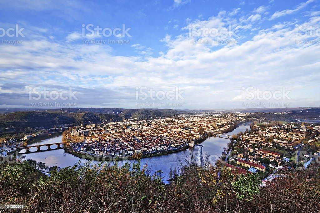 Cahors town stock photo