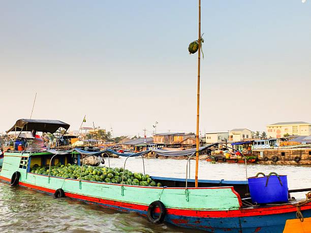 Cai Rang floating market, Can Tho, Vietnam stock photo